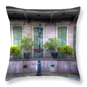 0267 French Quarter 5 - New Orleans Throw Pillow by Steve Sturgill