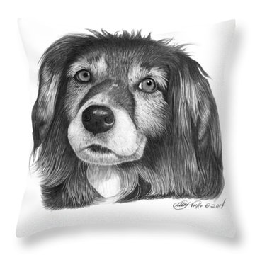 027 - Miss Mindy Throw Pillow by Abbey Noelle
