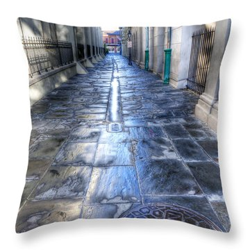 0270 French Quarter 2 - New Orleans Throw Pillow by Steve Sturgill
