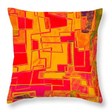 0275 Abstract Thought Throw Pillow by Chowdary V Arikatla