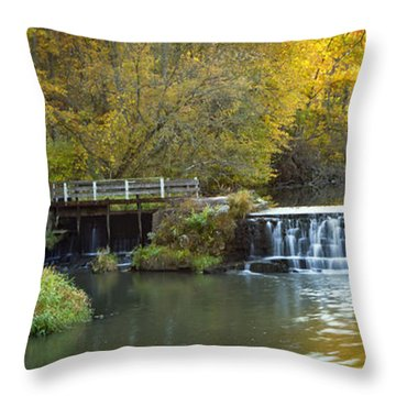0291 Hyde's Mill Wisconsin Throw Pillow by Steve Sturgill