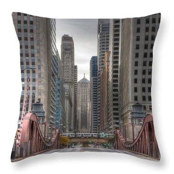 0295 Lasalle Street Chicago Throw Pillow