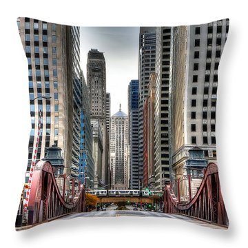 0295b Lasalle Street Bridge Throw Pillow