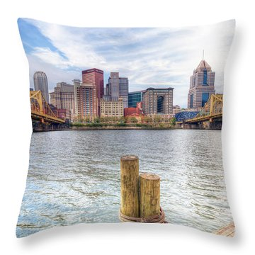 0310 Pittsburgh 3 Throw Pillow