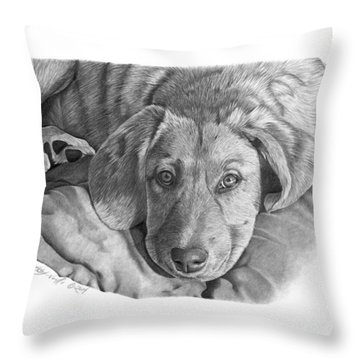 033 - Molly Throw Pillow by Abbey Noelle