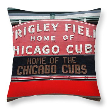 0334 Wrigley Field Throw Pillow