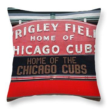 0334 Wrigley Field Throw Pillow by Steve Sturgill