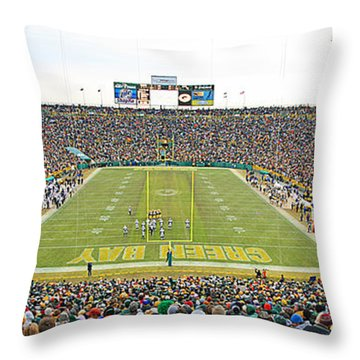 0349 Lambeau Field Panoramic Throw Pillow