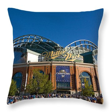 0386 Miller Park Milwaukee Throw Pillow