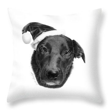 039 - 2014 Emmie Christmas Throw Pillow by Abbey Noelle