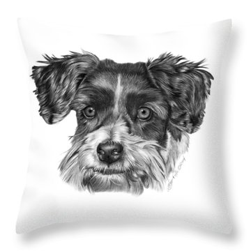 040 - Blue Throw Pillow by Abbey Noelle