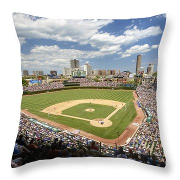 0415 Wrigley Field Chicago Throw Pillow by Steve Sturgill
