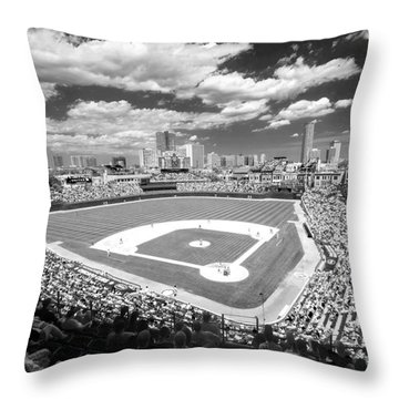 0416 Wrigley Field Chicago Throw Pillow by Steve Sturgill