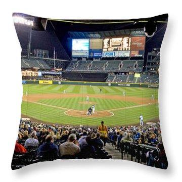 0434 Safeco Field Panoramic Throw Pillow