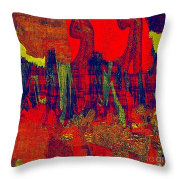 0486 Abstract Thought Throw Pillow