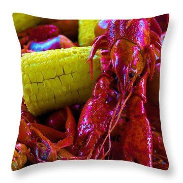 05092010 Boiled Mud Bugs Throw Pillow