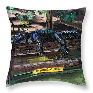051607 Cajun Watch Dog Throw Pillow
