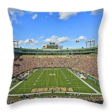 0539 Lambeau Field Throw Pillow by Steve Sturgill