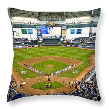 0546 Nlds Miller Park Milwaukee Throw Pillow