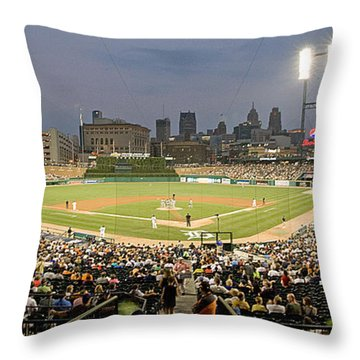 0555 Comerica Park Detroit Throw Pillow