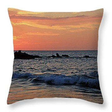 0581 Maui Sunset 2 Throw Pillow