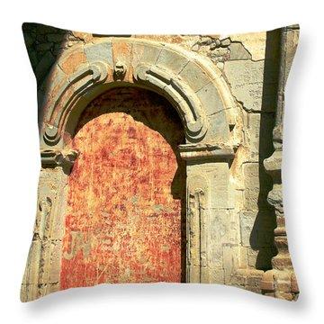 0584 San Juan Capistrano Mission Throw Pillow