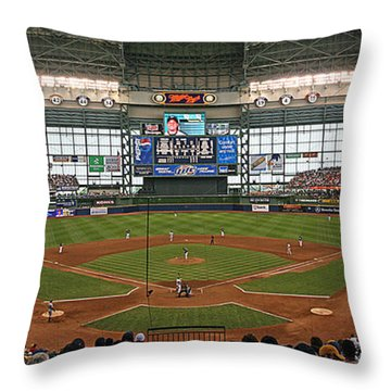 0613 Miller Park Throw Pillow