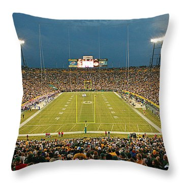 0614 Prime Time At Lambeau Field Throw Pillow
