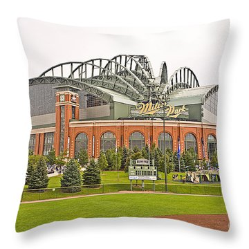 0622 Milwaukee's Miller Park Throw Pillow