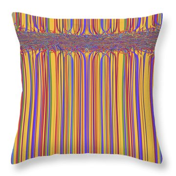 0699 Abstract Thought Throw Pillow by Chowdary V Arikatla