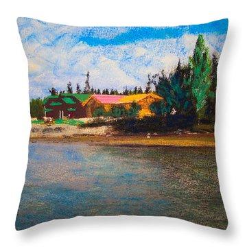 07152008 Chena River Alaska Throw Pillow