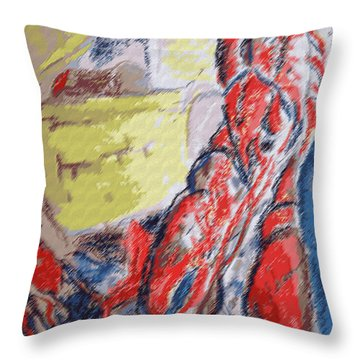 073114 Crawfish.jpg Throw Pillow