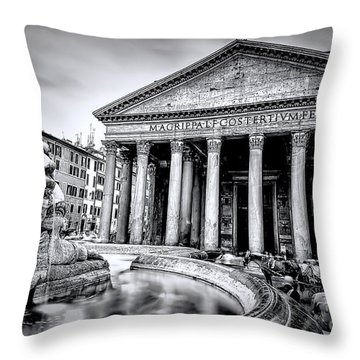 0786 The Pantheon Black And White Throw Pillow