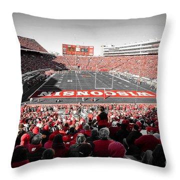 0811 Camp Randall Stadium Throw Pillow