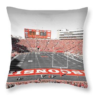 0813 Camp Randall Stadium Panorama Throw Pillow