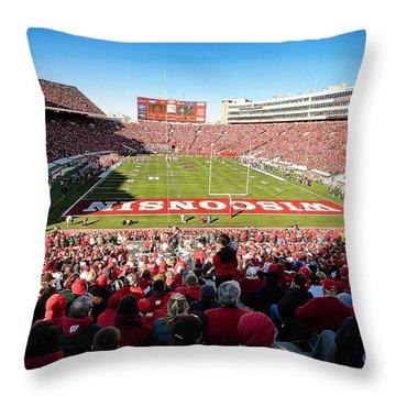 0814 Camp Randall Stadium Throw Pillow by Steve Sturgill