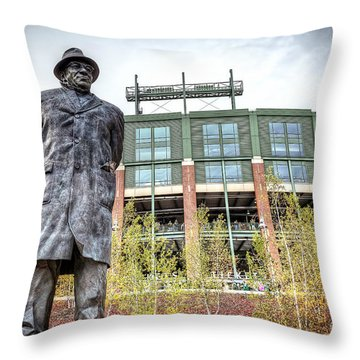 0853 Lombardi Statue Throw Pillow by Steve Sturgill