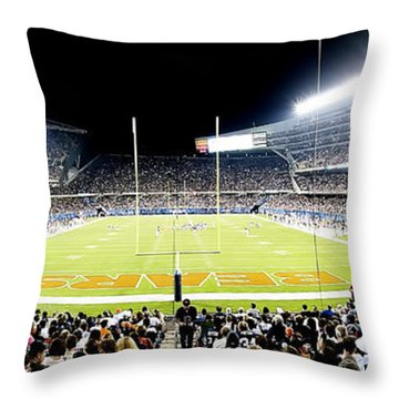 0856 Soldier Field Panoramic Throw Pillow