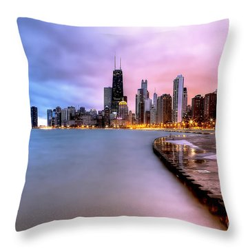 0865 Chicago Sunrise Throw Pillow