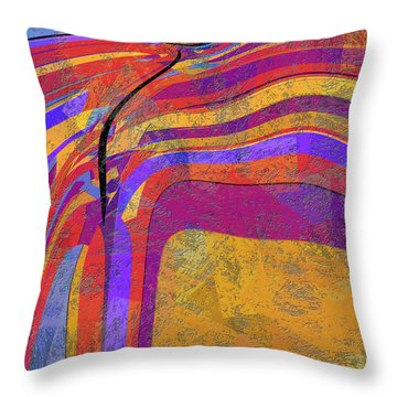 0871 Abstract Thought Throw Pillow by Chowdary V Arikatla