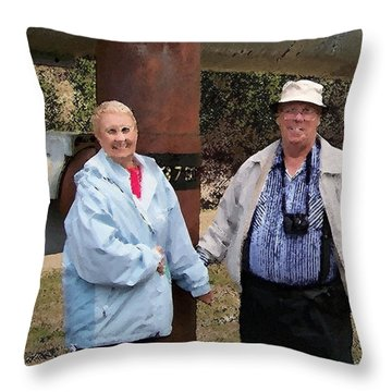 091814 Tourist Alaskan Pipe Line Throw Pillow