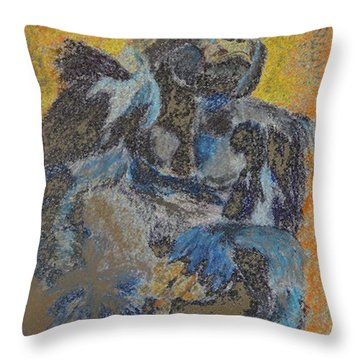 092814digital Color Pencil Silver Back Throw Pillow by Garland Oldham