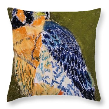 092914 Paragon Falcon Throw Pillow by Garland Oldham