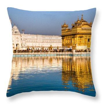Golden Temple In Amritsar - Punjab - India Throw Pillow