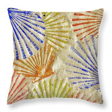 Gyotaku Scallops - Bivalvify - Seafood Melody Throw Pillow