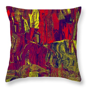 0479 Abstract Thought Throw Pillow by Chowdary V Arikatla
