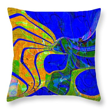 0565 Abstract Thought Throw Pillow by Chowdary V Arikatla