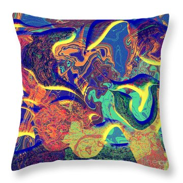 0627 Abstract Thought Throw Pillow