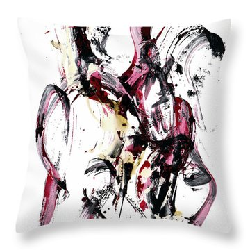 Throw Pillow featuring the painting 10118.110409 - Dance Of The Universe 1 by Kris Haas