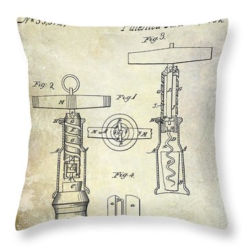 Antique Corkscrew Throw Pillows